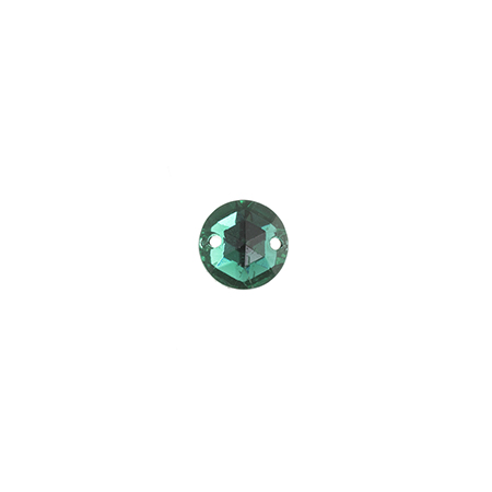 S/O STONE GLASS 7mmROUND FACET EMERALD image
