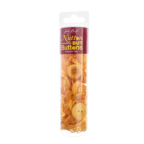 Nutton but Buttons 130g Tube Mixed Sizes Resin Dark Yellow image