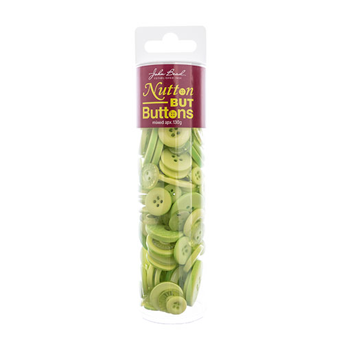 Nutton but Buttons 130g Tube Mixed Sizes Resin Lime Green image