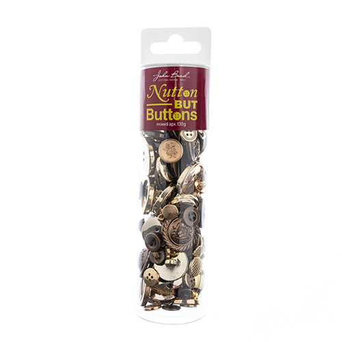 Nutton but Buttons 130g Tube Mixed Sizes Plastic Gold image