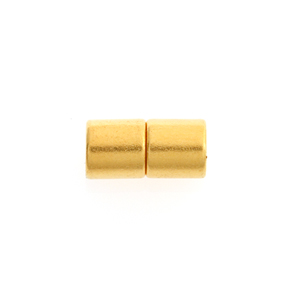 MAGNETIC CLASP ROUND TUBE 6x6mm GOLD 10pairs image