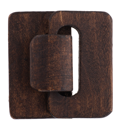 Multi-Strand Wood Hook and Eye 4.5x4.8x1.2cm 10pcs Brown image