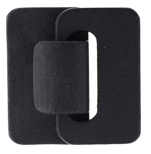 Multi-Strand Wood Hook and Eye HeaderCard 4.5x4.8x1.2cm Black image