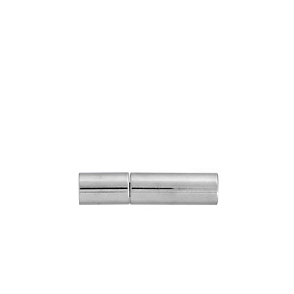 Plug-in Clasp - Tube Smooth 17mm Silver LF/NF (40pcs) image