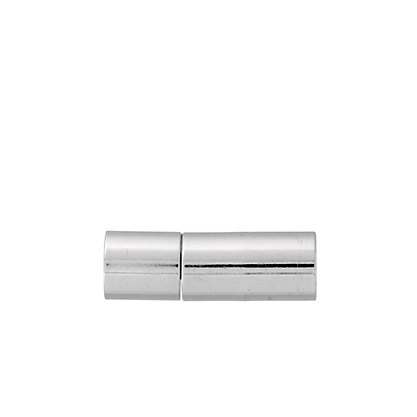 Plug-in Clasp - Tube Smooth 18mm Silver LF/NF (20pcs) image