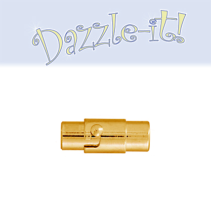 Magnetic Clasp-Tube Twist Lock 15mm Gold LF/NF (1pc) image