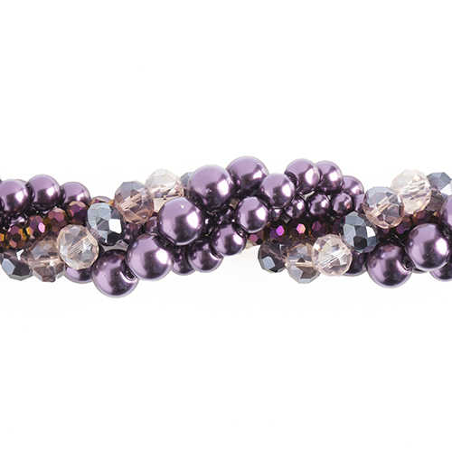 Crystal Lane Twisted Bead Strands Wisteria image