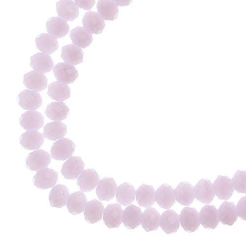 Crystal Lane Rondelle 2Strand 7in (apx110pcs)  3x4mm Opaque Pink image
