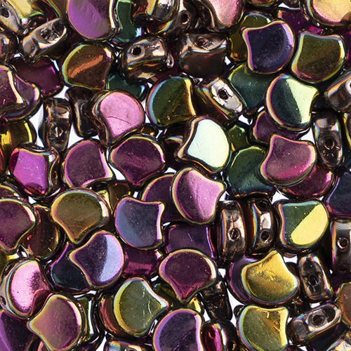 Czech Ginkgo Leaf Bead 7.5mm Crystal/Full Vitex image