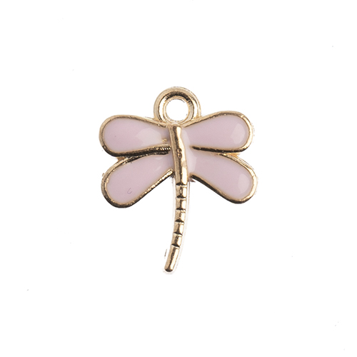 Sweet & Petite Charms 13x16mm Dragonfly Pink 10pcs image