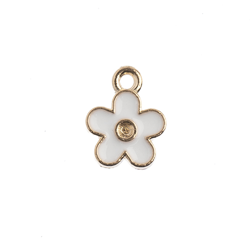 Sweet & Petite Charms 10x12mm Small Flower White 10pcs image