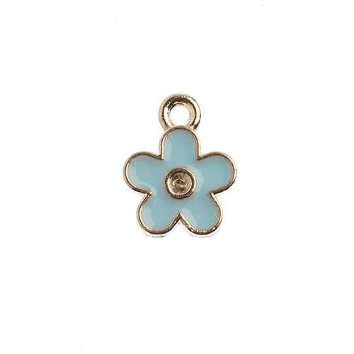 Sweet & Petite Charms 10x12mm Small Flower Blue 10pcs image