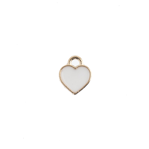 Sweet & Petite Charms 7x8mm Small Hearts White 10pcs image