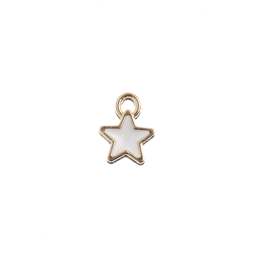 Sweet & Petite Charms 7x9mm Tiny Star White 10pcs image