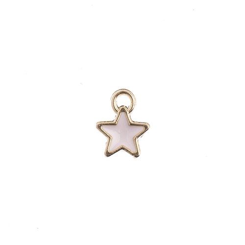 Sweet & Petite Charms 7x9mm Tiny Star Pink 10pcs image