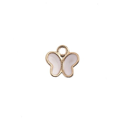 Sweet & Petite Charms 8x8mm Butterfly Pink 10pcs image