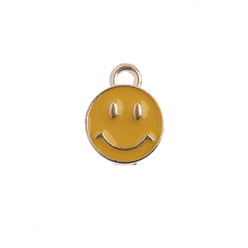 Sweet & Petite Charms 10x13mm Happy Face Gold 10pcs image