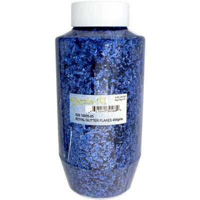 GLITTER FLAKES VIALS Large Jar Royal Blue w/Sifter Top image
