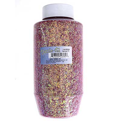 Glitter Flakes Vials Large Jar Iridescent Red w/Sifter Top image