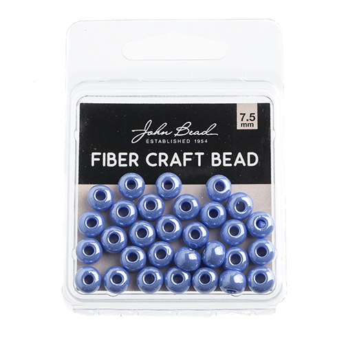 Fiber Craft Beads 19g/0.7mm Opaque Pale Blue Luster image