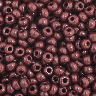 Czech Seed Bead 11/0 Opaque Dark Brown apx23g image