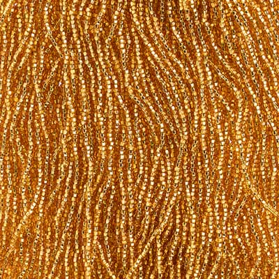 Czech Seed Bead 11/0 S/L Gold Strung square hole image