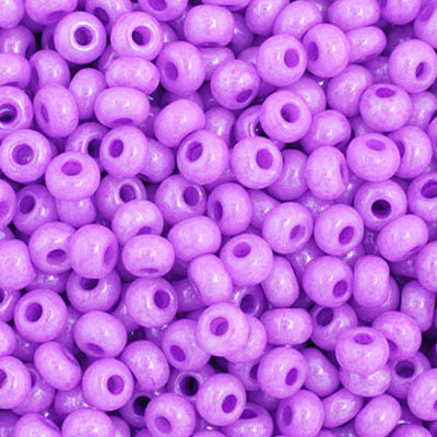 Czech Seed Bead 11/0 Opaque Fuchsia Dyed apx23g image