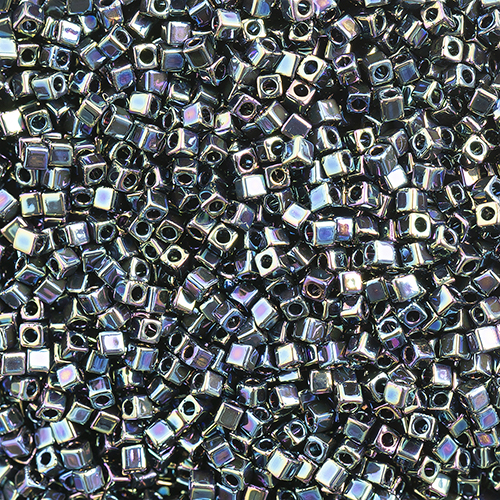 Miyuki Square/Cube Beads 1.8mm apx 20g Variegated Iris Metallic image