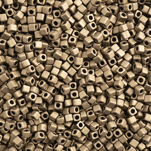 Miyuki Square/Cube Beads 1.8mm apx 20g Dark Bronze Matte Metallic image