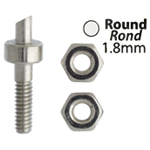 Metal Complex Replacement Pins 2 Sets Round 1.8mm image