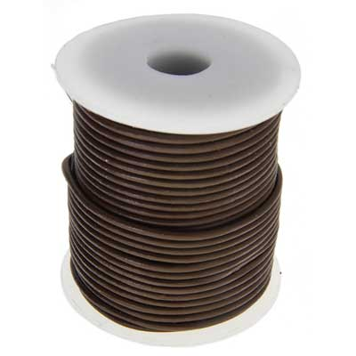 Dazzle-It Genuine Leather Cord 2mm Brown Spool image