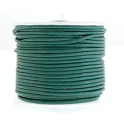 Leather Round Cord 1.5mm Turquoise image