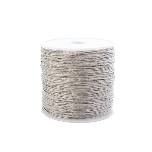 Nylon Beading Knotting Cord 0.8mm 90m apx 100yds/Spool Grey image