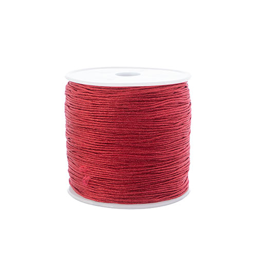 Nylon Beading Knotting Cord 0.8mm 90m apx 100yds/Spool Burgundy image