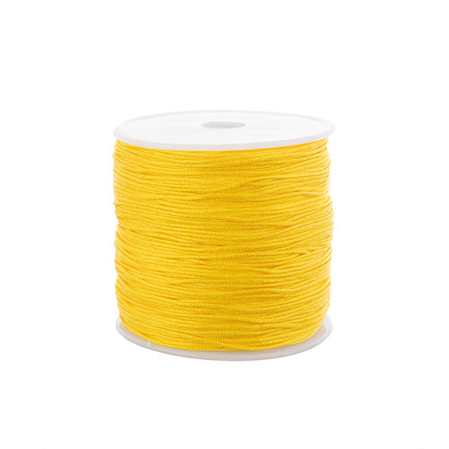 Nylon Beading Knotting Cord 0.8mm 90m apx 100yds/Spool Yellow image