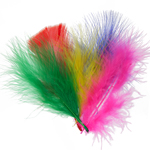 Marabou Feathers 4-6in Multi Mix (3Headers x6g ea) image