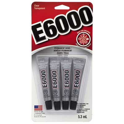 Glue E-6000 Clear Mini 5.3ml Tubes 4 pcs per Header image
