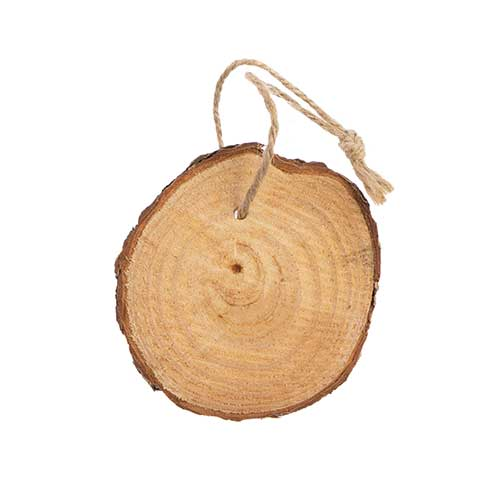 Christmas Ornament - Wood Slice Round Disc 2.75in image