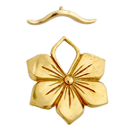 BRONZE TOGGLE FLOWER 27mm image