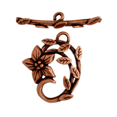 Toggle - Jasmine Star 18mm Antique Copper image