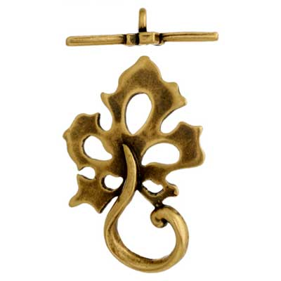 Toggle - Leaf 22mm Antique Brass image