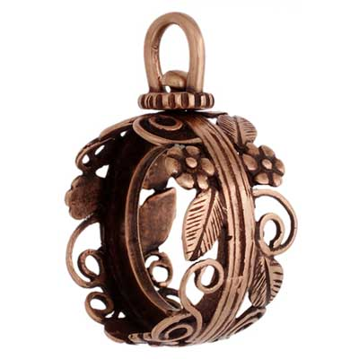 Revolving Bezel Frame - 14mm Round - 2 sided Antique Copper image