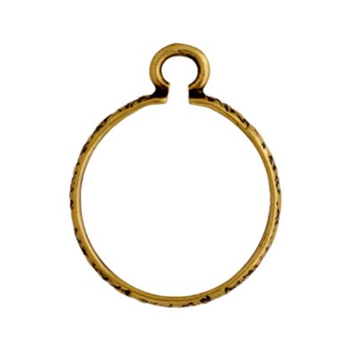 Pendant - Setting 14mm 1 loop Antique Brass image