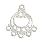 SS.925 BALI CHANDELIER PART 23x18mm 5 HOLE BRIGHT SILVER image