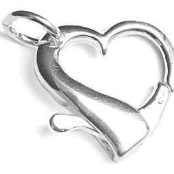 SS.925 LARGE HEART CLASP W JR 20X21MM image