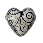 SS.925 Bead Heart Swirls 19mm image