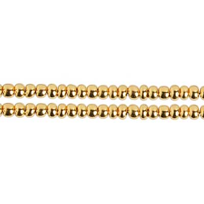 SEEDBEAD 8/0 REAL GOLD PLATED image