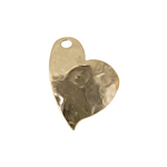 GF 14KT PENDANT HEART HAMMERED 15x18mm image