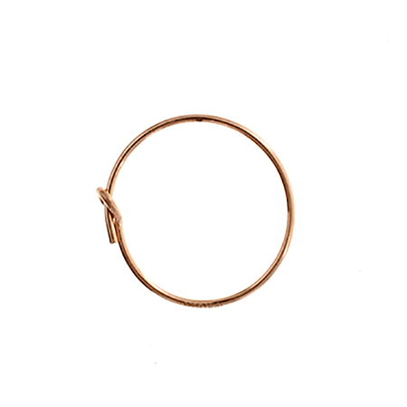 RGF 14K Wire Beading Hoop .70x15mm Aprx 1.9g image