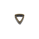 Pewter Bead - Triangle Hammered 7x10mm Antique Brass image